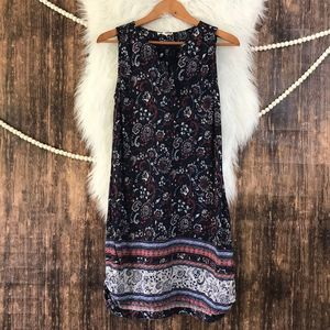 beachlunchlounge | Navy Boho Print Tassel Dress S